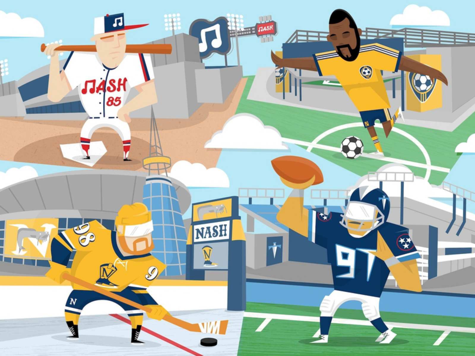 How Nashville is Embracing All Sorts of Sports